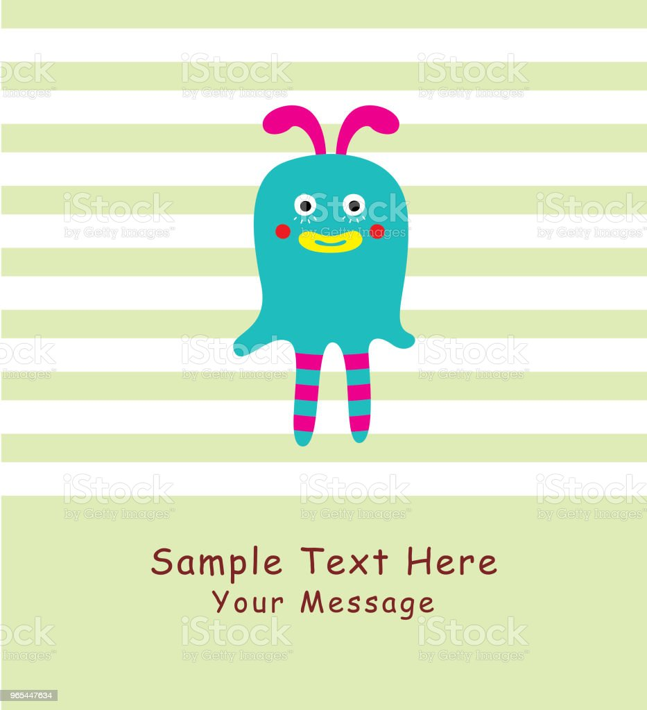 cute monster greeting card vector royalty-free cute monster greeting card vector stock vector art & more images of anniversary