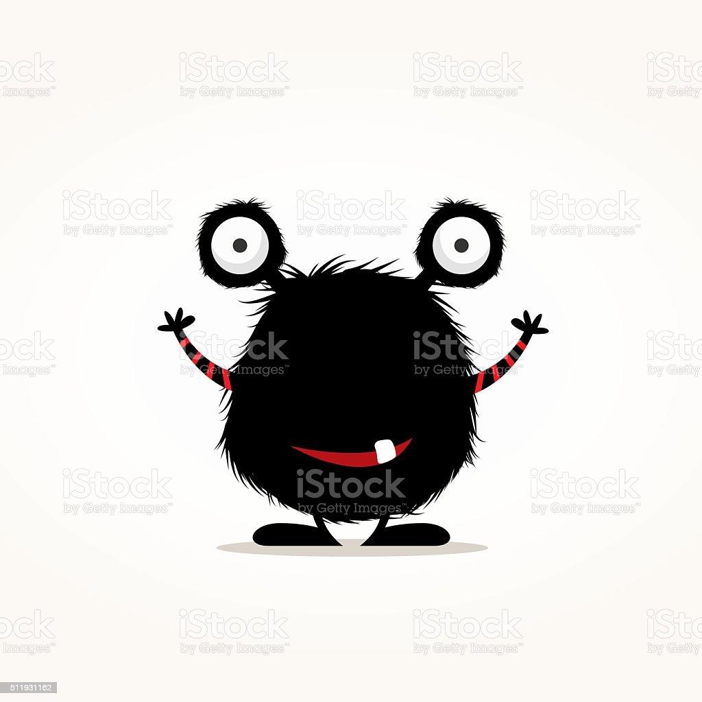 Cute monster illustration vector art illustration