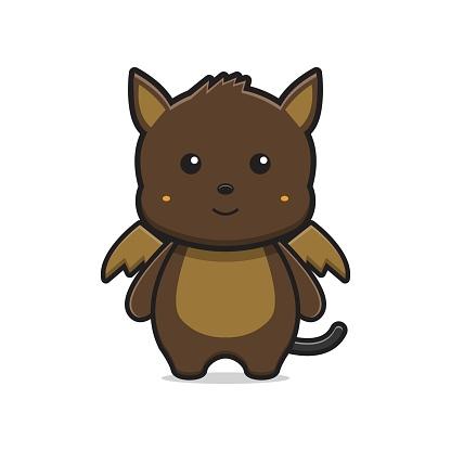 Cute monster mascot character cartoon icon vector illustration.