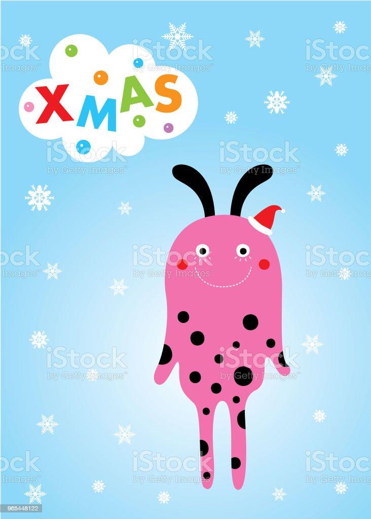 cute monster merry christmas greeting card cute monster merry christmas greeting card - stockowe grafiki wektorowe i więcej obrazów baby shower royalty-free