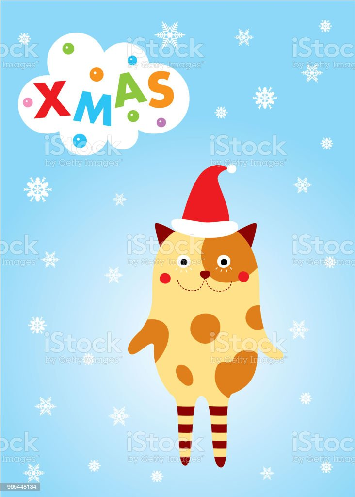 cute monster merry christmas greeting card royalty-free cute monster merry christmas greeting card stock vector art & more images of animal