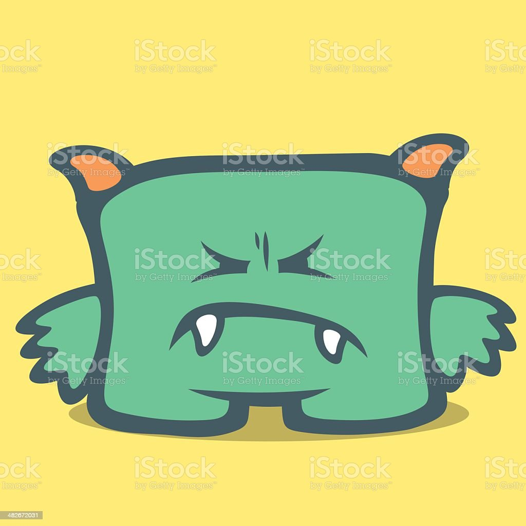 Cute Monster - Seventh royalty-free stock vector art