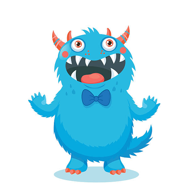 cute monster vector. cartoon monster mascot. - cartoon monster stock-grafiken, -clipart, -cartoons und -symbole