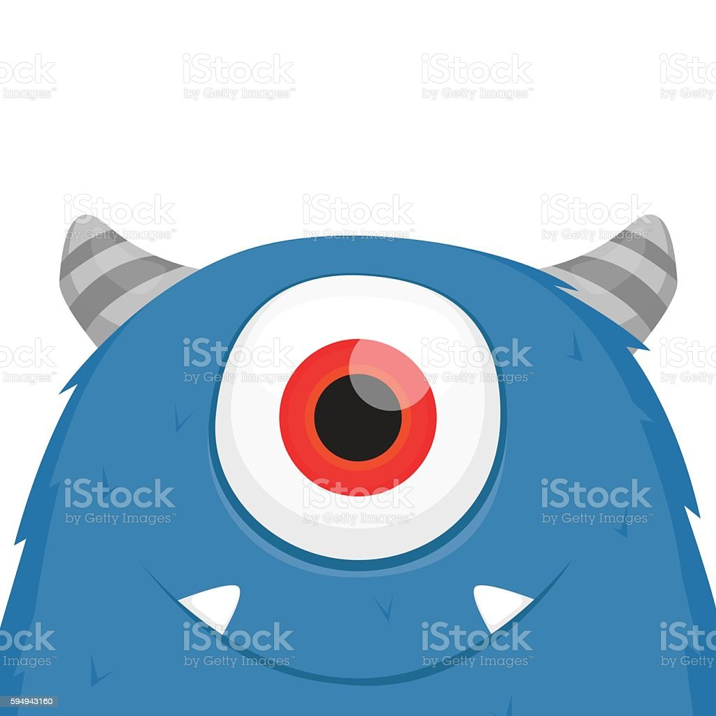 Cute monster vector vector art illustration