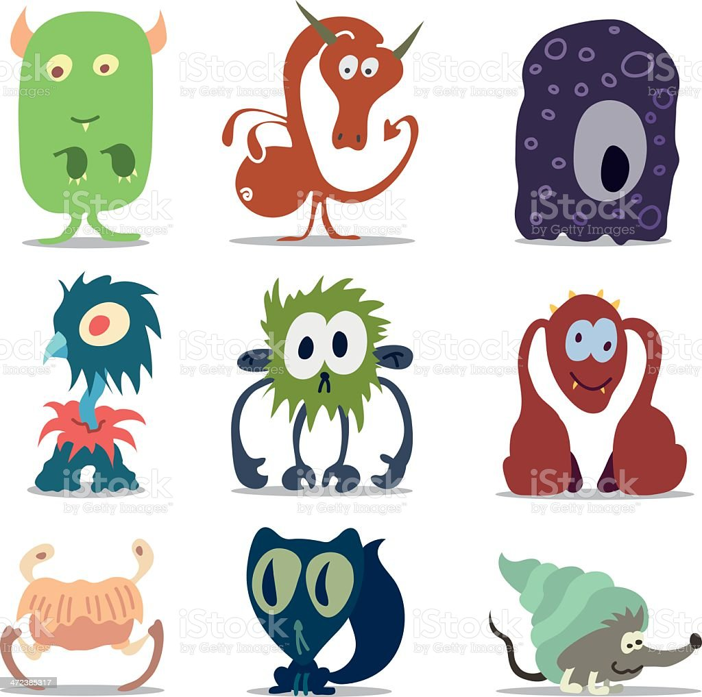 かわいい怪獣またはエイリアン のイラスト素材 472385317 | istock