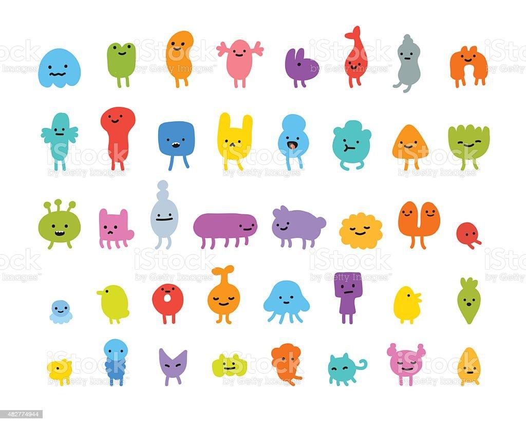 かわいい怪獣 2015年のベクターアート素材や画像を多数ご用意