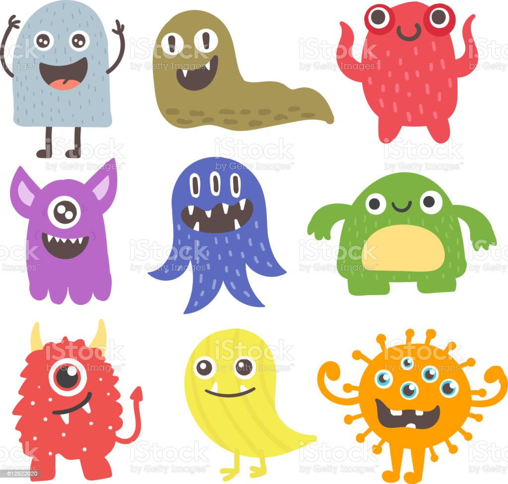 cute monsters vector set stock vector art more images of abstract rh istockphoto com monster vector energy monster vector logo