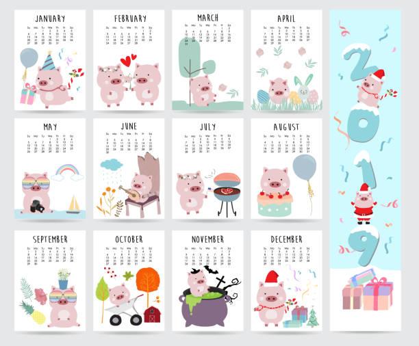 Прикольный календарь на 2019 год с картинками по месяцам, юбилеем юрия