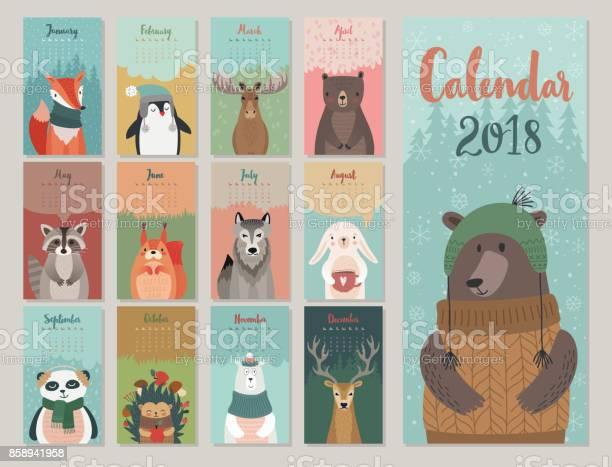 Cute monthly calendar with forest animals vector id858941958?b=1&k=6&m=858941958&s=612x612&h=ystg9vgbrmkfitu35xmqsk4h1co psadhz e55rcm14=