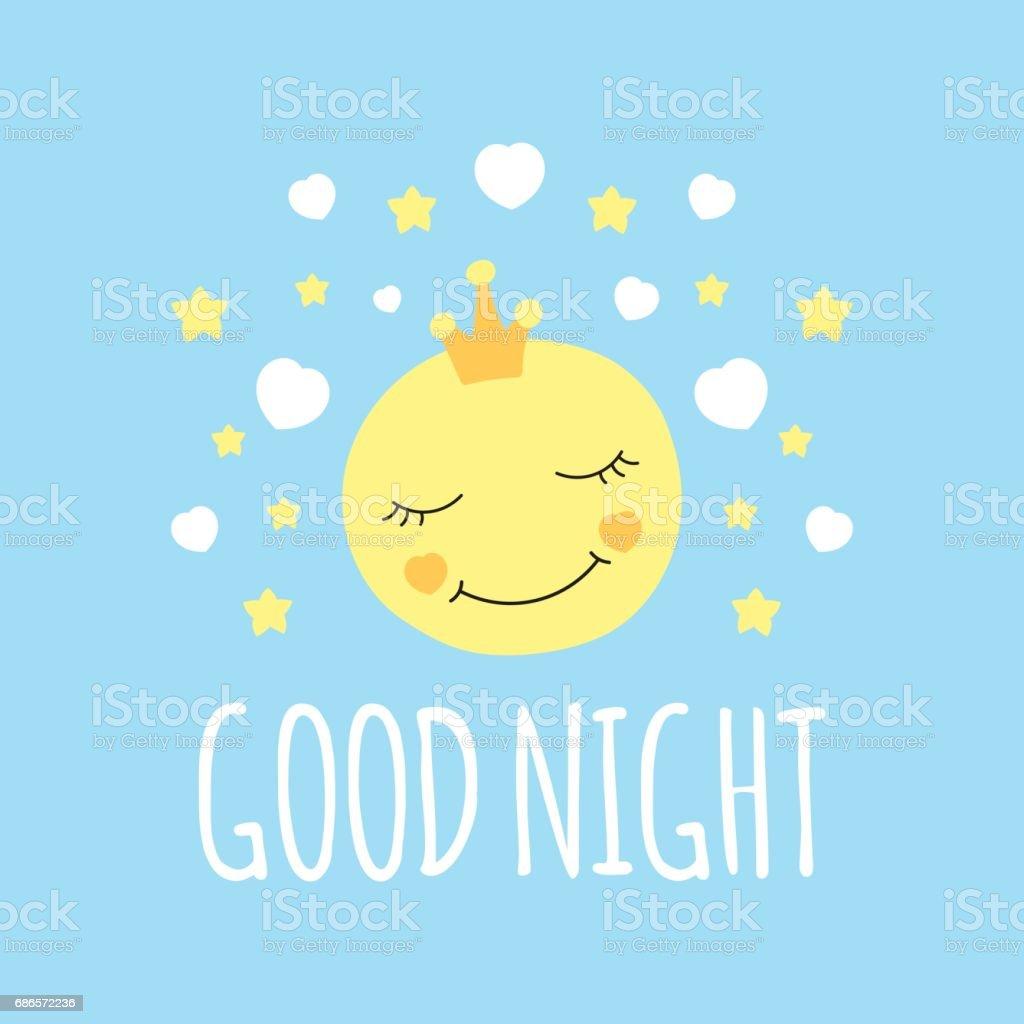 Night Time Sleepy Eyelashes Emoji Nursery Wall Decor Art Poster Print