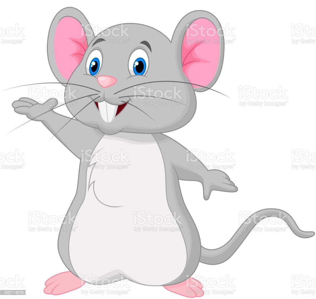 Süße Maus Comic Winkender Stock Vektor Art Und Mehr Bilder Von
