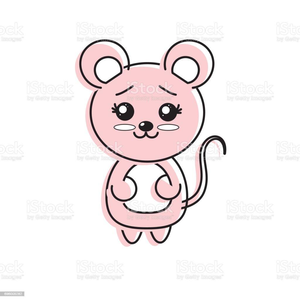 顔の表情とかわいいマウス野生動物 - アイコンのベクターアート素材や