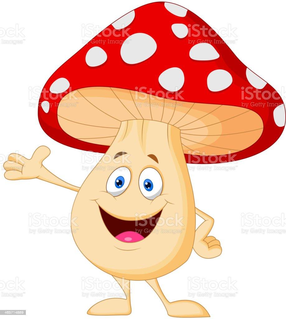 Cute mushroom cartoon vector art illustration