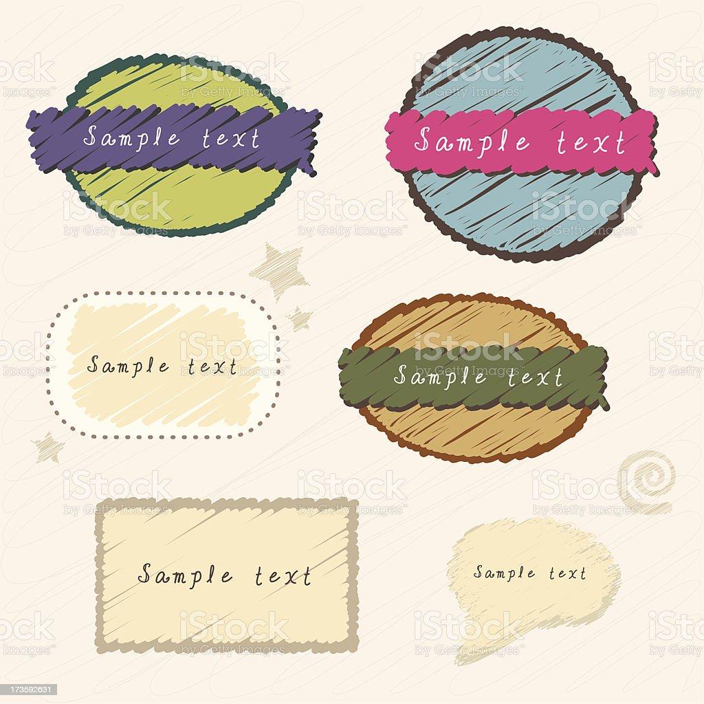 cute nameplates set royalty-free stock vector art