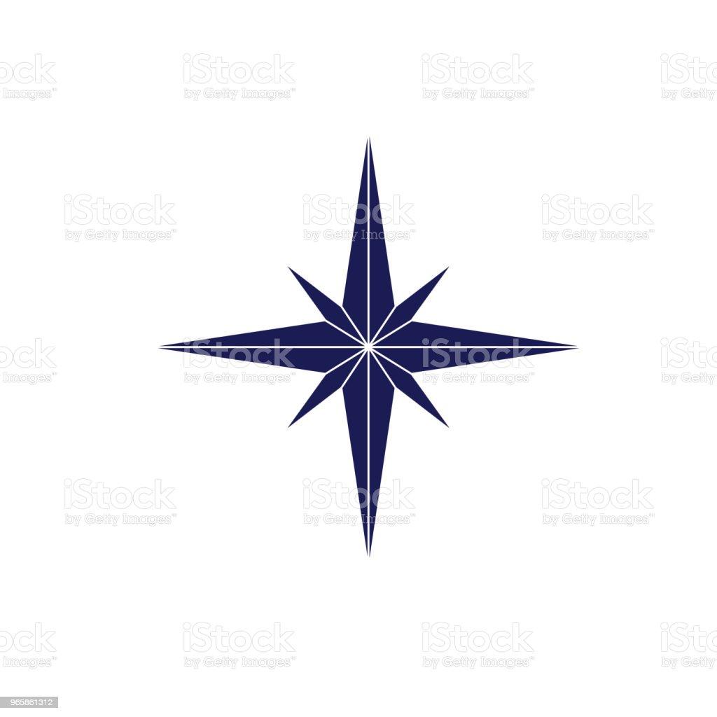 Schattig nautische kompas steeg pictogram - Royalty-free Canada vectorkunst