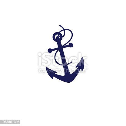 istock Cute Nautical Icon - Anchor 965861398