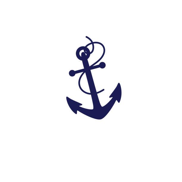 b39f063d8a7 Cute Nautical Icon - Anchor vector art illustration