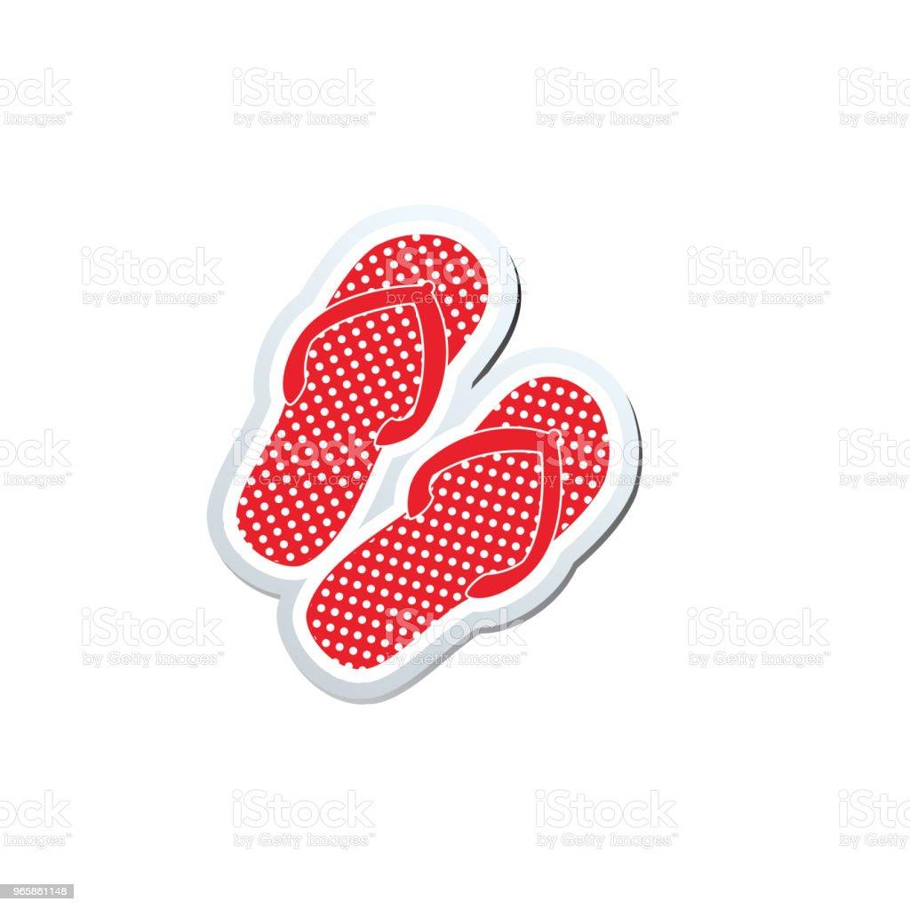 Cute Nautical Icon - Flip-Flops - Royalty-free Beach stock vector