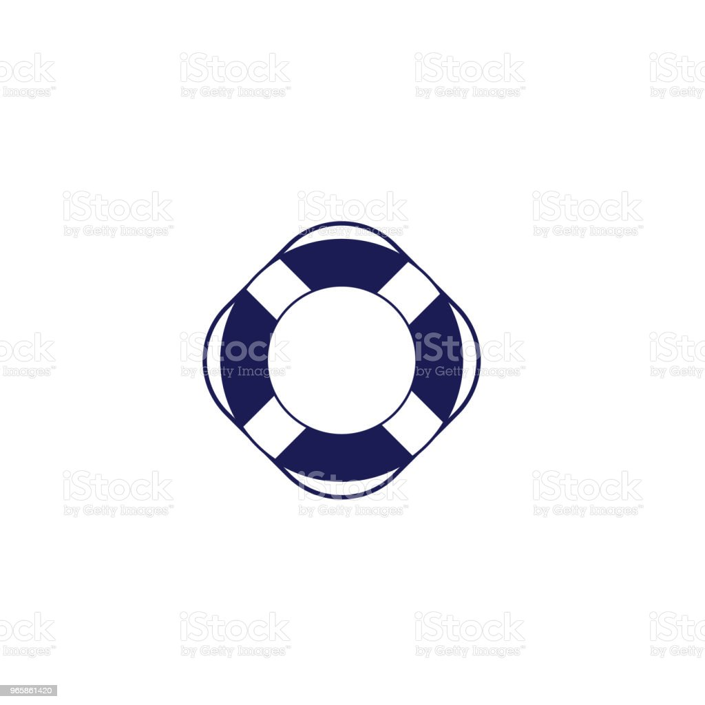 Cute Nautical Icon - Life Ring - Royalty-free Assistance stock vector