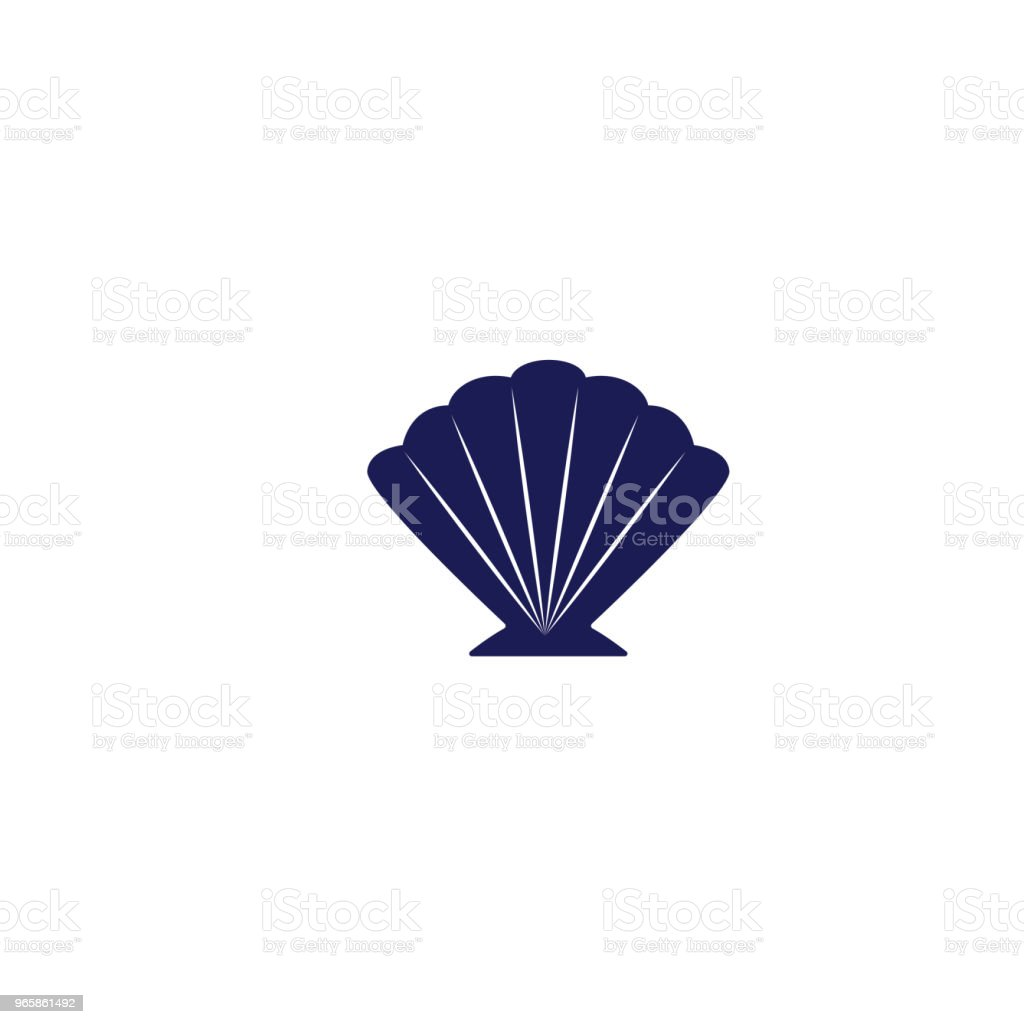 Cute Nautical Icon - Seashell - Royalty-free Beach stock vector