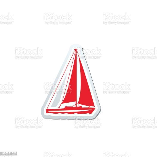 Söt Nautiska Ikonen-vektorgrafik och fler bilder på Båtar och fartyg