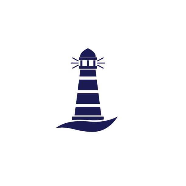 Cute Nautical Lighthouse Icon vector art illustration