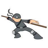 Cute Ninja Cartoon
