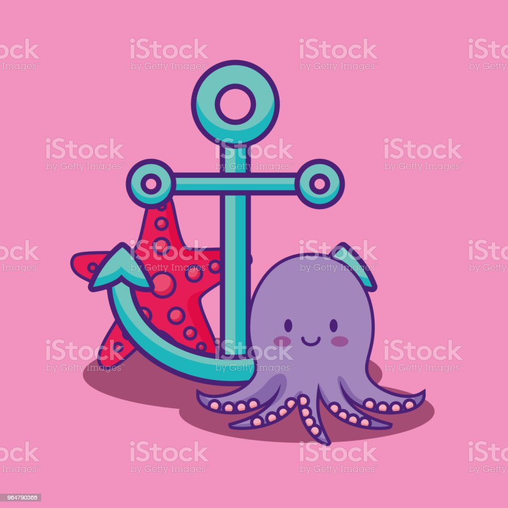 cute octopus icon royalty-free cute octopus icon stock vector art & more images of anchor - vessel part