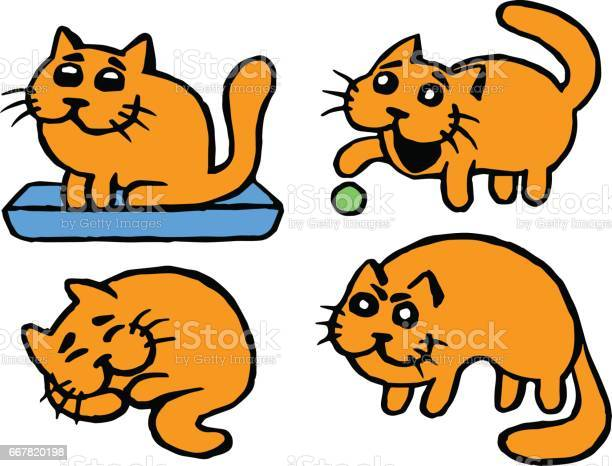 Cute orange cats set vector illustration vector id667820198?b=1&k=6&m=667820198&s=612x612&h=dycohlsajneawcalrlxa52320tg6u jln no4nivnve=