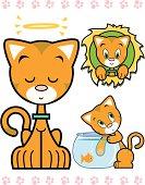 Cute Orange Kitty Character Series