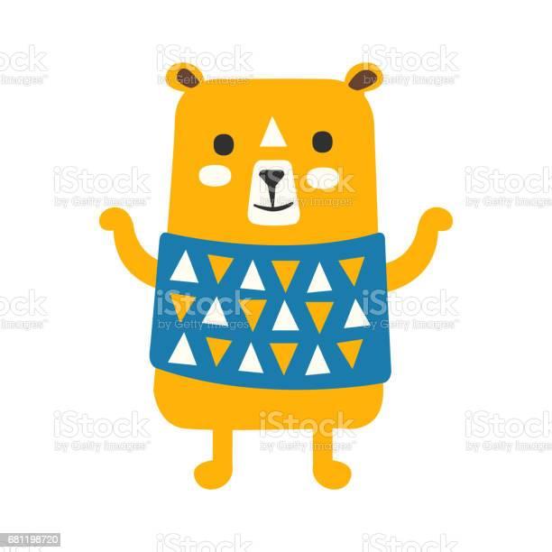 Cute orange teddy bear in blue vest standing funny lovely animal vector id681198720?b=1&k=6&m=681198720&s=612x612&h=x niai skinzhsnwaujqxj ixdmvtp5tu0goyxzwpzc=