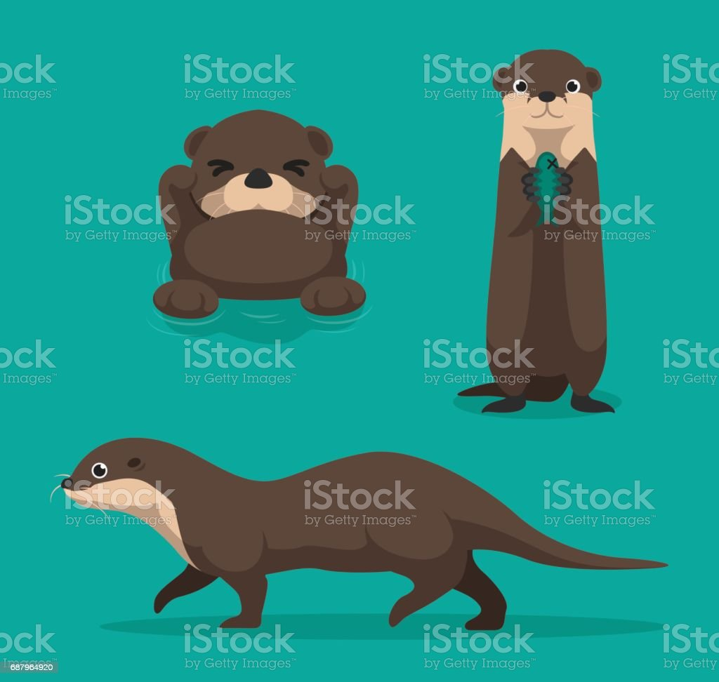 royalty free otter clip art vector images illustrations istock rh istockphoto com