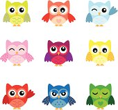 Cute Owl Characters