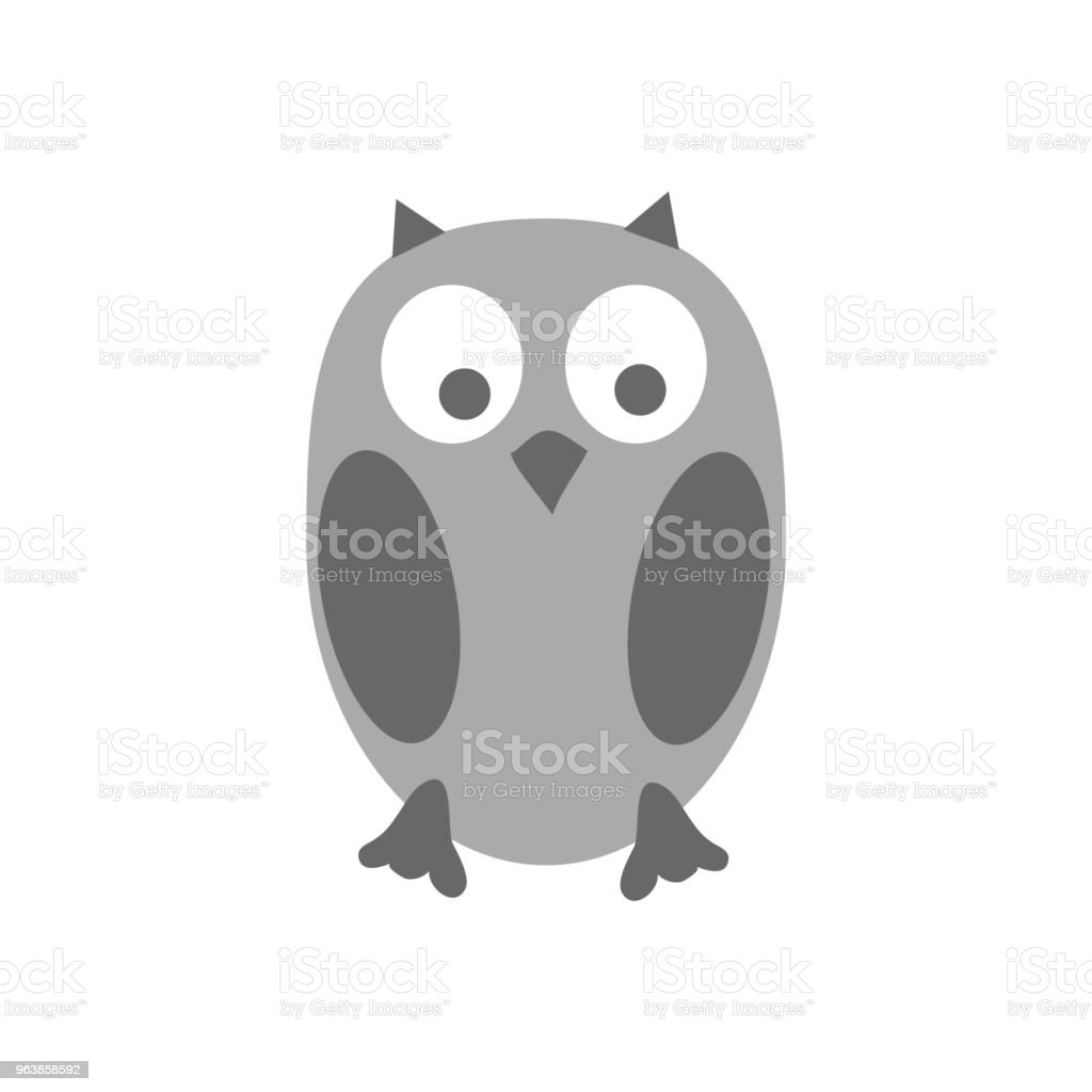 Cute owl. Isolated on white background. Vector illustration. - Royalty-free Animal stock vector