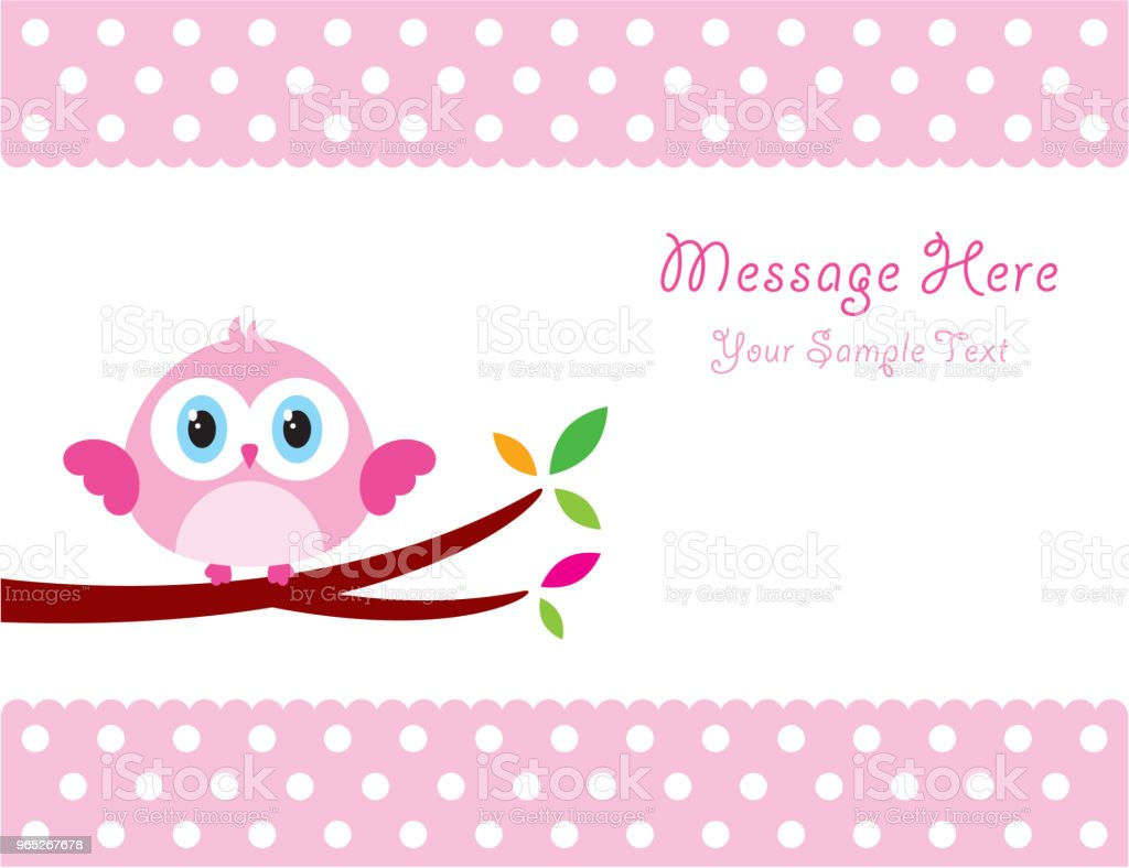 cute owl message card royalty-free cute owl message card stock vector art & more images of animal body part