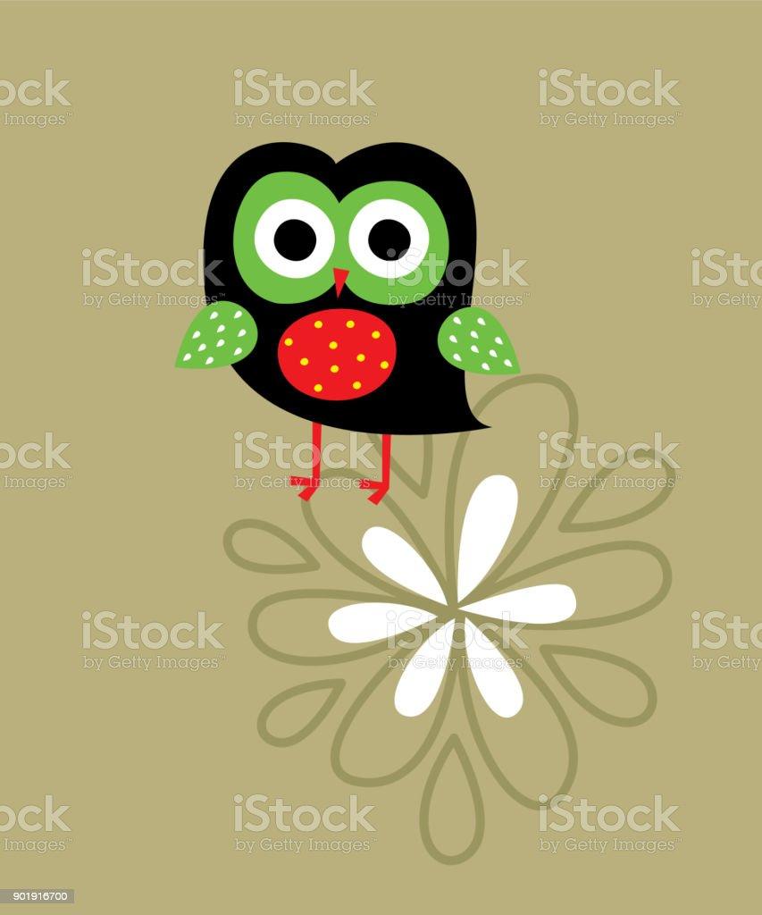 Cute Owl Wallpaper Vector Royalty Free Stock Art Amp
