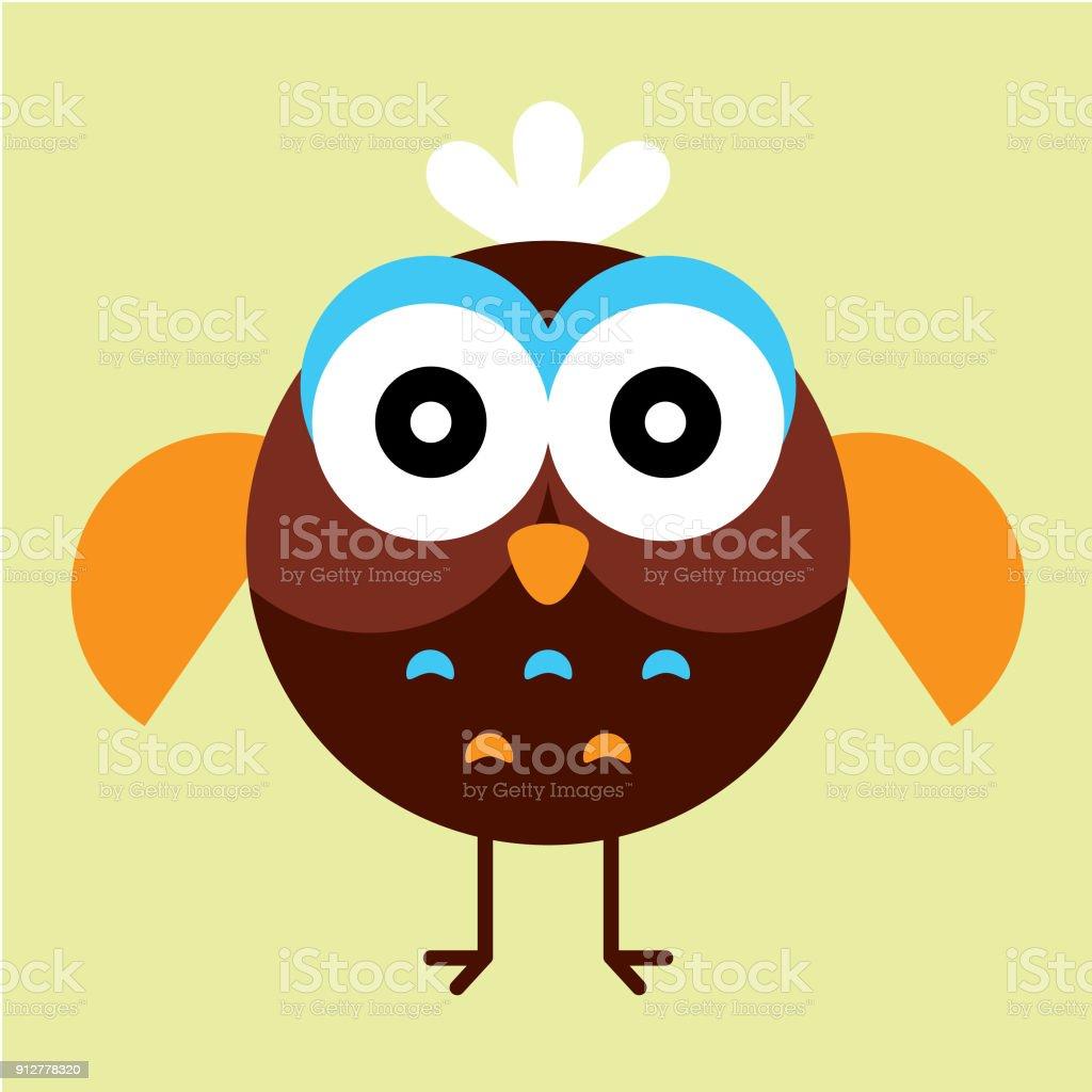 Cute owl wallpaper vector stock vector art more images of art cute owl wallpaper vector royalty free cute owl wallpaper vector stock vector art amp voltagebd Image collections
