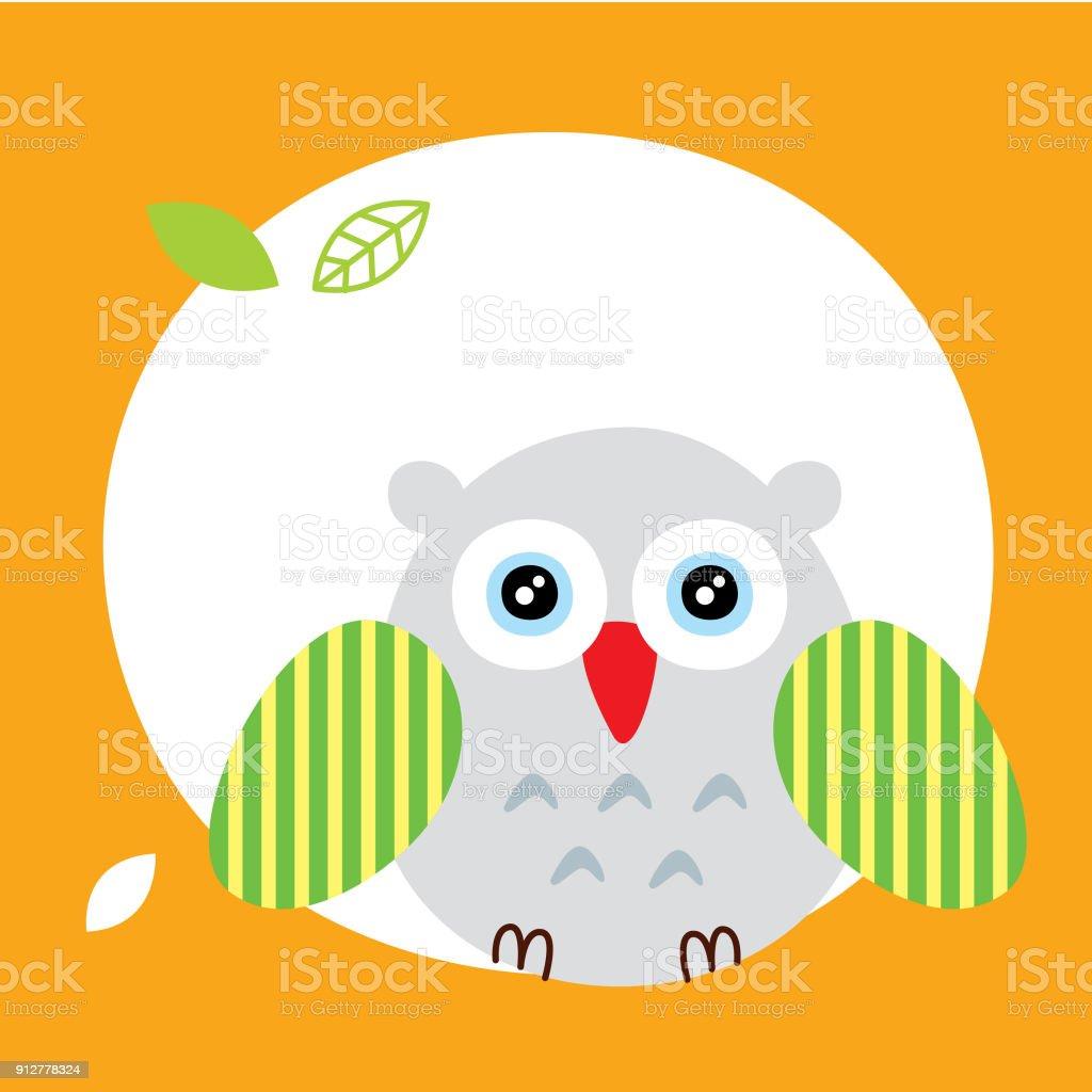 Cute Owl Wallpaper Vector Royalty Free Cute Owl Wallpaper Vector Stock Vector Art