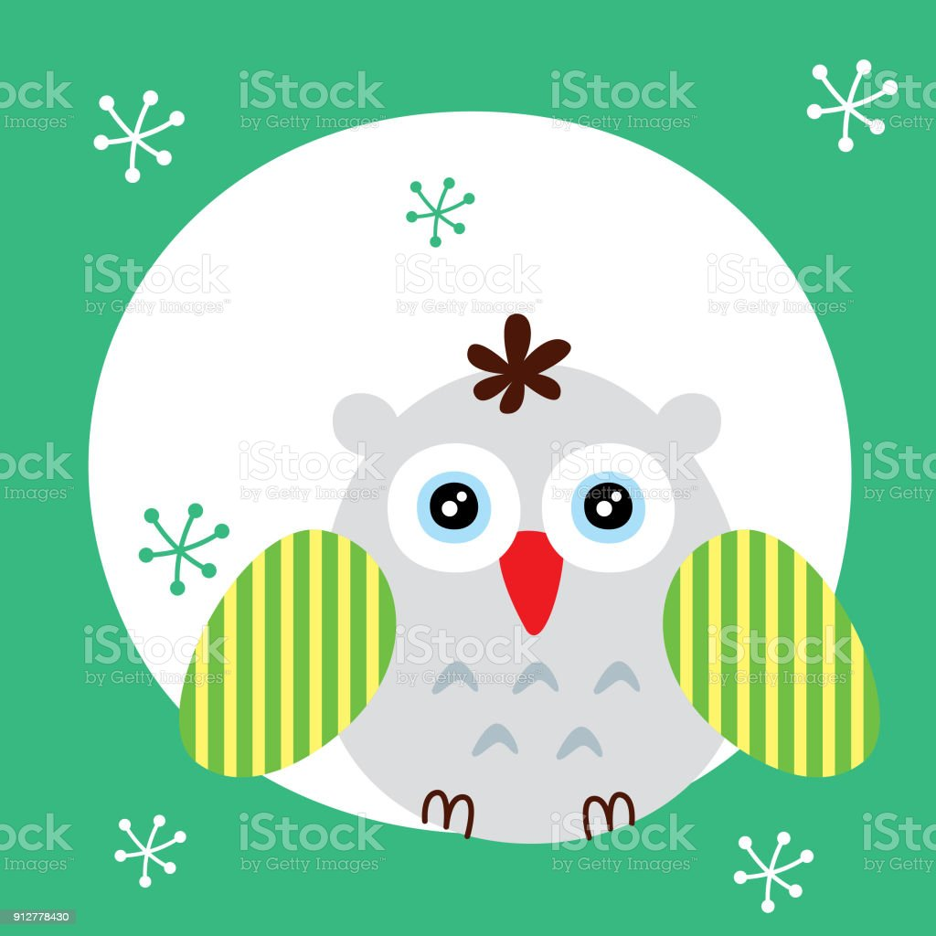 Cute Owl Wallpaper Vector Stock Illustration Download Image Now