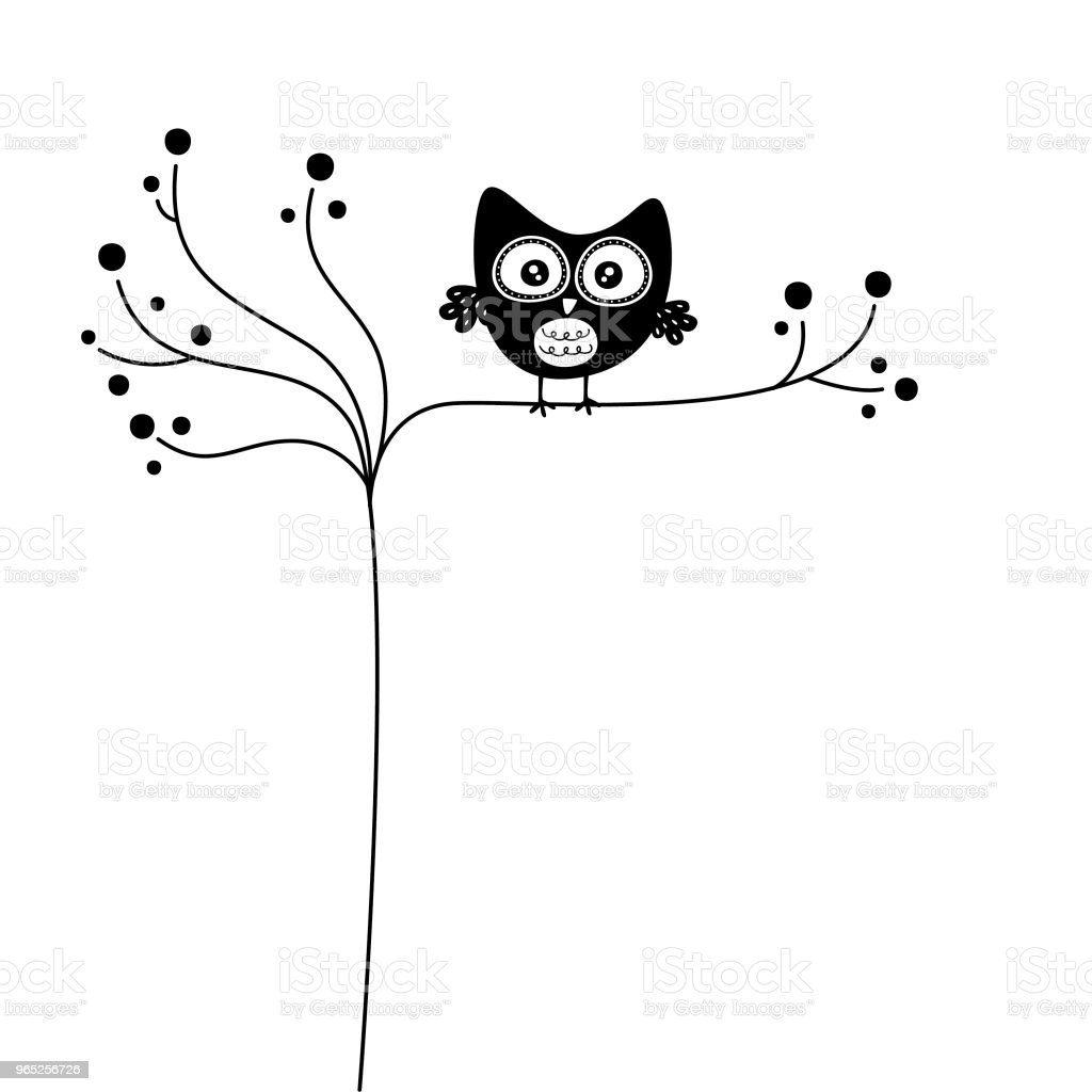 cute owl wallpaper vector royalty-free cute owl wallpaper vector stock vector art & more images of animal body part