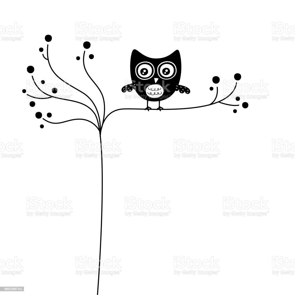 Cute Owl Wallpaper Vector Stock Vector Art & More Images of Animal Body Part