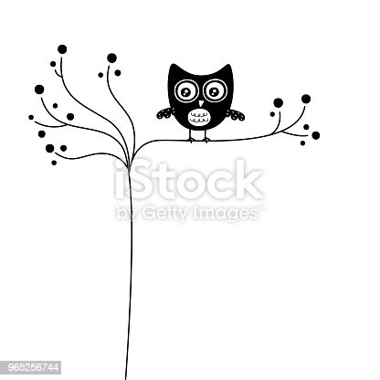 Cute Owl Wallpaper Vector Stock Vector Art & More Images of Animal Body Part 965256744
