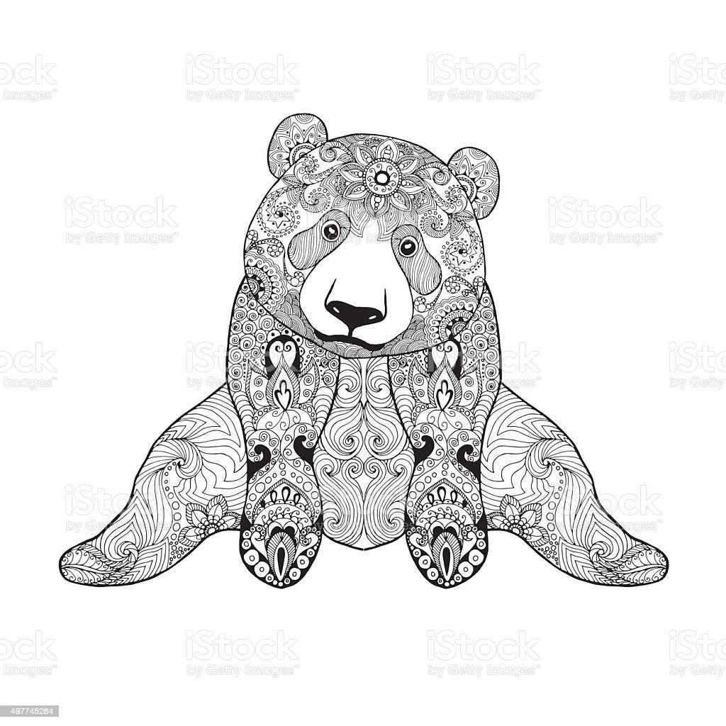 cute panda bear stock vector art 497745284 istock
