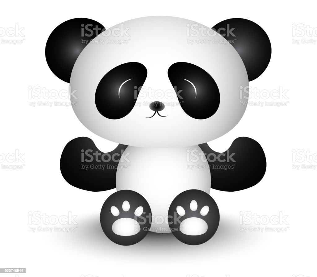 Cute panda cartoon black and white royalty free cute panda cartoon black and white