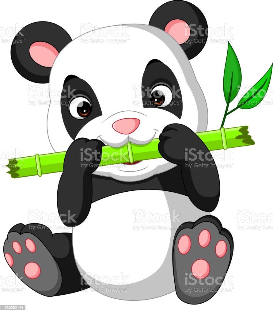 Panda Mignon Dessin Animé Vecteurs Libres De Droits Et Plus Dimages Vectorielles De Animaux à Létat Sauvage