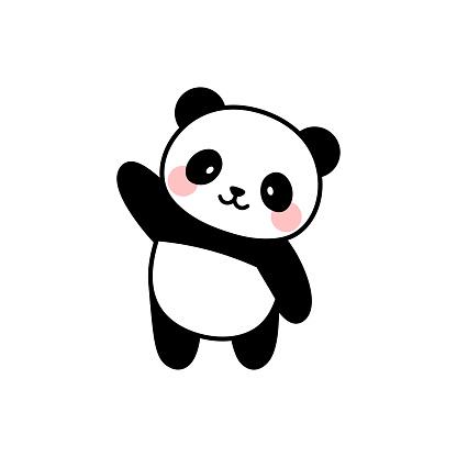 cute panda character vector design