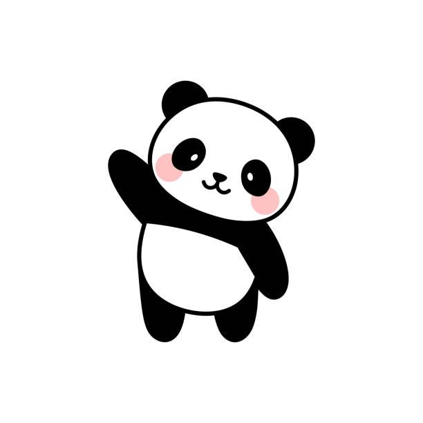 illustrations, cliparts, dessins animés et icônes de conception mignonne de vecteur de caractère de panda - panda