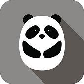 istock cute panda face and body flat design, vector 499630776