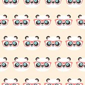 Cute panda face pattern.