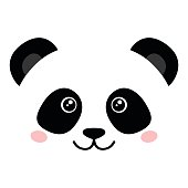 A juvenile Giant Panda bear (Ailuropoda melanoleuca). The panda is a conservation reliant endangered species.